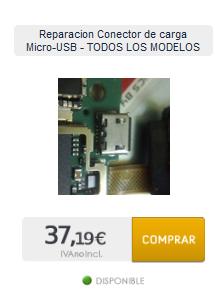 Reparacion Conector Micro-USB a domicilio