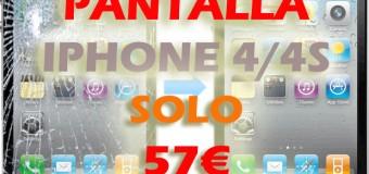 Reparación Pantalla de iPhone 4/4s en Almería