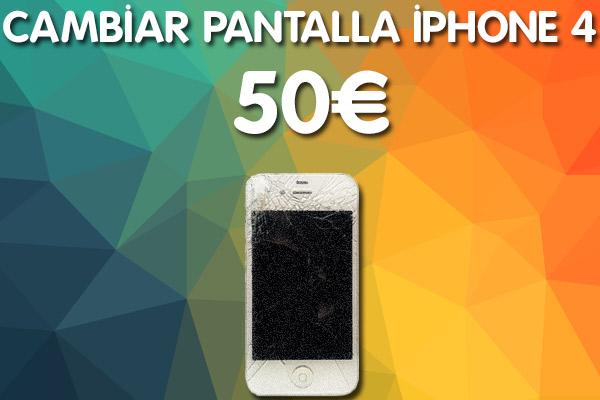 Cambiar pantalla iphone 4 en Almeria